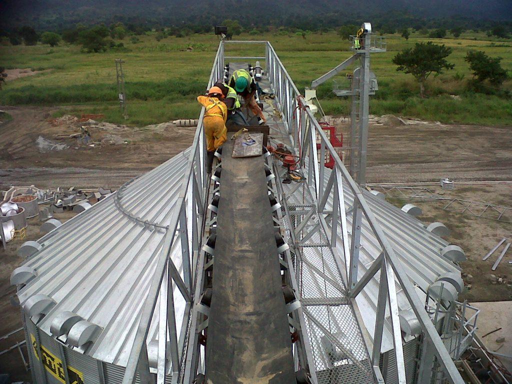 Grain handling, silo